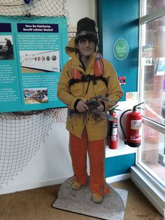 Full size cut out for exhibition of local fisherman Jack