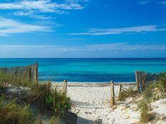 Playa de Es Trenc, Mallorca, Islas Baleares Most Beautiful Beaches, Beautiful Places To Visit, Wonderful Places, Balearic Sea, Balearic Islands, Ibiza, Menorca, Mallorca Beaches, Mallorca Island