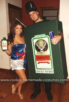 Homemade Jager Bomb Couple Costume - this is awesome!