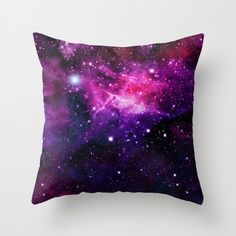 Space Pillow Case Nebula Pillow Space Pillow Cover by NikaLim