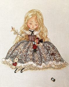 Little girl, awesome stitching and so much detail.
