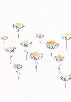 shared by Siret Roots - 200 Bullet Journal Ideas and Doodles to Rock Your Bu Jo -Original yellow flowers drawing. shared by Siret Roots - 200 Bullet Journal Ideas and Doodles to Rock Your Bu Jo - Art Doodle, Doodle Drawings, Easy Drawings, Easy Flower Drawings, Pencil Drawings, Music Drawings, Doodle Art Journals, Watercolor And Ink, Watercolor Paintings