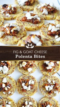 Fig and Goat Cheese Polenta Bites