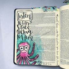 Bible Journaling by My Bible, Bible Scriptures, Bible Quotes, Hunter Christmas Presents, Scripture Art, Bible Art, Praying For Your Children, Bible Study Journal, Hand Lettering Quotes