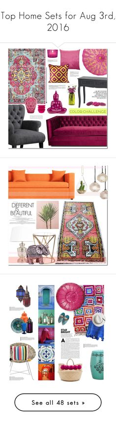 """Top Home Sets for Aug 3rd, 2016"" by polyvore ❤ liked on Polyvore featuring interior, interiors, interior design, home, home decor, interior decorating, Kim Salmela, Missoni Home, Alexandra D. Foster and Surya"