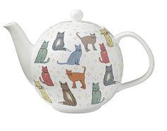 "Ulster Weavers Teapot Catwalk € 45.90 Catwalk Beautiful teapot for 6 to 8 cups of tea. Made of ""bone china"" Size 25 x 25 x 25 cm. Cat Walk"