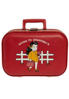 going to grandmas vintage suitcase... I had this! :)