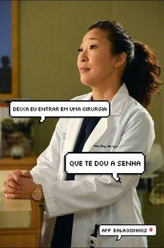 Cristina Yang tela de bloqueio Grey's anatomy
