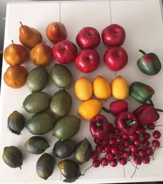 Large Lot Artificial Fake Fruit Vegetables Food Faux Apples Pears Cherries  Plus #Unbranded