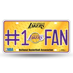 Lakers NBA Metal License Plate #1 FAN