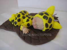 Yellow Giraffe Baby Shower Cake Topper 1st by DinasCakeToppers, $30.00