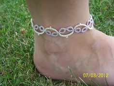 bridal anklet bridal lace anklet bridal lace jewelry by MamaTats, $15.00