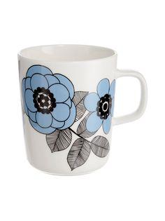 Valkoinen/musta Dunoon Argyll Cat -muki 500 ml Marimekko, Kitchenware, Tableware, Catio, Finland, Doodles, Mugs, Stuff To Buy, Dining
