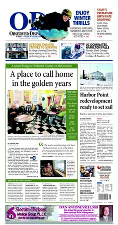 The front page for Sunday, Jan. 6, 2013: A place to call home in the golden years.