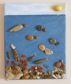 морское дно. Роспись по камню картины камнем картины от MarDeCosas