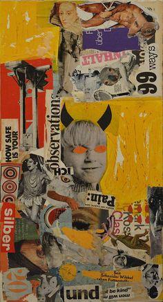 Original Time Collage by Babak Mo | Dada Art on Paper |