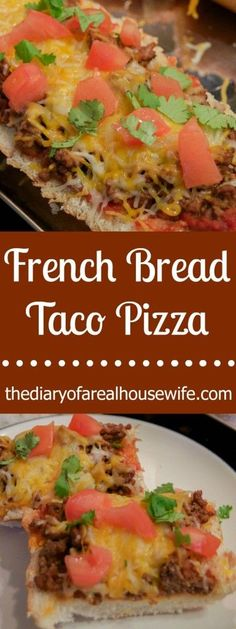 In need of a quick and easy family favorite recipe? Taco French Bread Pizza is just what you're looking for with it's amazing flavor combinations. (French Bread Sandwich Recipes)