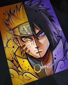 Naruto e Sasuke Naruto Shippuden Sasuke, Anime Naruto, Naruto Fan Art, Naruto Sasuke Sakura, Boruto, Naruto Drawings, Sasuke Drawing, Naruto Sketch, Naruto And Sasuke Wallpaper