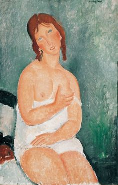 Amedeo Modigliani  - Young Woman in a Shirt, 1918