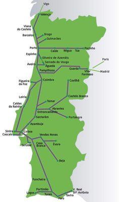 Viajar de trem em Portugal (Foto: Reprodução/CP) Train Map, By Train, Train Travel, Spain And Portugal, Beach Photography Friends, Scenery Photography, Night Photography, Landscape Photography, Wanderlust