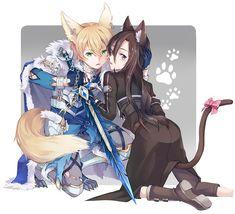 Sao Characters, Cute Cartoon Characters, Sao Anime, Anime Angel Girl, Sword Art Online Wallpaper, Accel World, Sword Art Online Kirito, Anime Warrior, Animes Yandere
