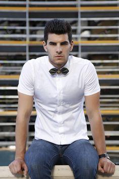 Men's fashion simple clean bow tie