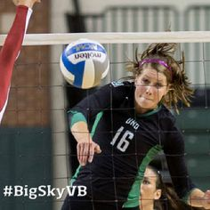 Sept. 23 - UND's Ronni Munkeby named Big Sky Conference Volleyball Player of the Week. #BigSkyVB #NDProud