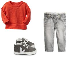 Baby boy outfit: GAP, Noppies, Veja