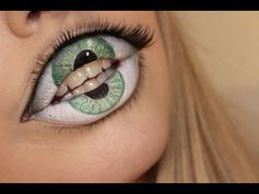 Easy makeup idea for Halloween, that doesn't skimp on the creepy factor.