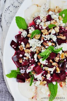 Roasted Beet Pear Salad Honey French Roasted Beet, Pear, & Bleu Cheese Salad