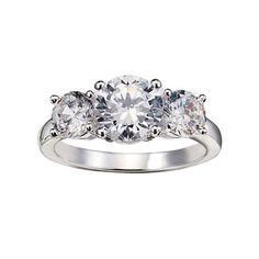 3 Stone CZ Anniversary Ring