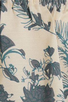Love Stories - Blush Printed Satin Pajama Shorts - Blue -