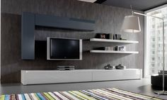 50 Cool TV Stand Designs for Your Home tv stand ideas diy, tv stand ideas for l… Home Tv Stand, Diy Tv Stand, Living Room Tv, Home And Living, Bedroom Tv Stand, Tv Stand Designs, Muebles Living, Tv Wall Decor, Cool Tv Stands