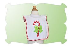 Candy Cane with Bow Applique