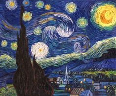 """""""Starry Night"""" by Vincent van Gogh placed 3rd on overstockArt.com's 2014 Top 10 List. Hand painted reproductions are available in a variety of sizes at overstockArt.com. #art"""