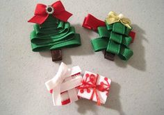Como hacer adornos navideños para el arbol con cintas