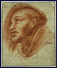 Study of a Franciscan Monk (Possibly Saint Francis), Cerano, about 1600
