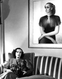 Joan Crawford & another terrifying portrait. 1936