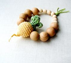 Turnip teething toy Baby teether Golden by MiracleFromThreads, $15.00