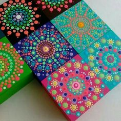 Dot Painting, Painting Patterns, Stone Painting, Mandala Canvas, Mandala Art, Learn To Sketch, Mandala Rocks, Stone Crafts, Ideas