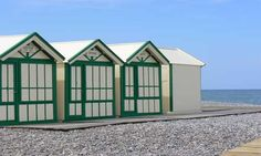 Beach Huts at Cayeux sur Mer on the Somme estuary in northern France