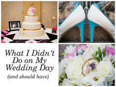 What I Didn't Do on My Wedding Day (and should have). If you are getting married soon, or know someone who is, make sure you read this list of 8 things I wish I would have done on my wedding day