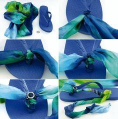 Blaue Flipflops - wunderschöne Sommer-Mode zum Selbermachen