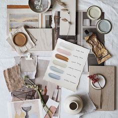 How To Plan & Create Mood Boards (The Lovely Drawer) Bauhaus Interior, Mood Board Interior, Material Board, Creative Workshop, Collage Background, Creating A Brand, Colour Schemes, Colour Palettes, Color Of The Year