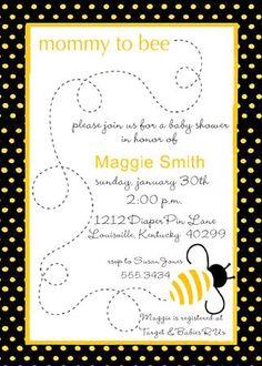 Bee baby shower invitedigital designmama to bee baby shower invite mommy to bee filmwisefo