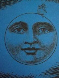 vintage moon face for a table Sun Moon Stars, Sun And Stars, Good Night Moon, Stars At Night, Luna Moon, Moon Face, Paper Moon, Moon Magic, Beautiful Moon