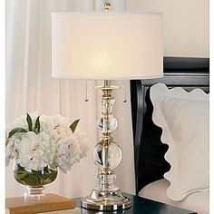 Bedside table lamps.