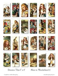 Alice in Wonderland 2  Domino Tiles 1 x 2  Digital by ImageArts, $3.99