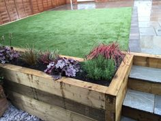 As well as creating contemporary beds and boarders with beautiful paving, Mango Paving & Landscaping Ltd really add the colour with artificial grass by Namgrass UK. Bottle Garden, Glass Garden, Small Backyard Patio, Backyard Landscaping, Landscaping Ideas, Stone Garden Paths, Garden Boxes, Garden Ideas, Patio Ideas