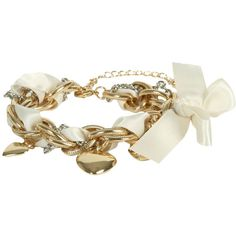 Ribbon Heart Charm Bracelet (16 BRL) ❤ liked on Polyvore featuring jewelry, bracelets, accessories, adjustable bangle, charm bangles, metal bangles, lobster claw clasp charms and heart bangle